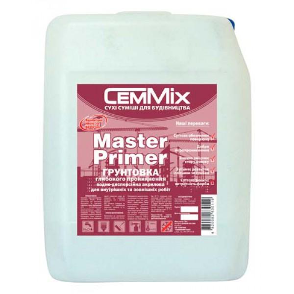 Грунтовка глубокопроникающая обезпыливающая CemMix Master Primer
