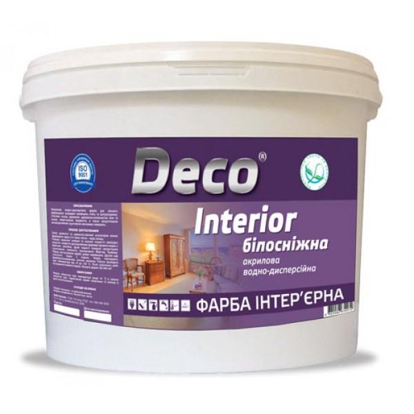 INTERIOR - акриловая, экономичная супербелая краска для стен и потолков