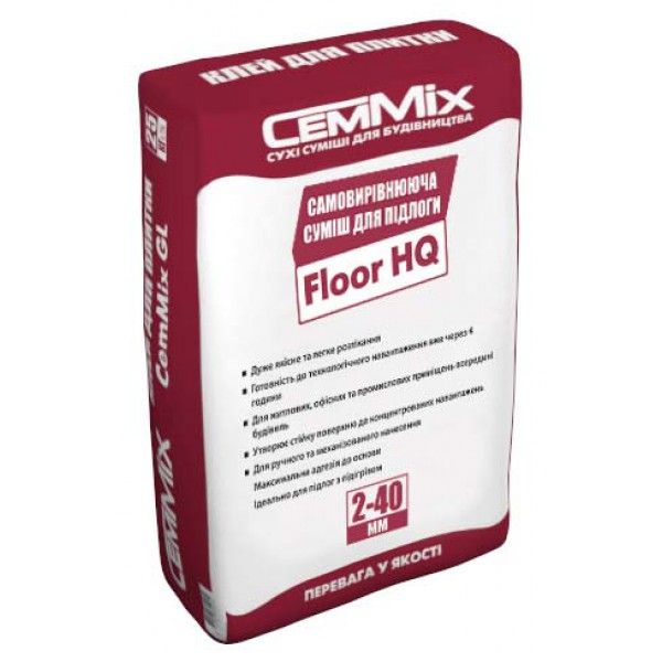 Самовыравнивающаяся цементная смесь для пола от 2 до 10 мм цементно-гипсовая CemMix Floor HQ
